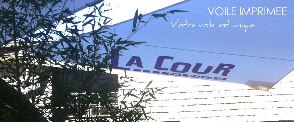 Voile imprimée Nantes 44 La Cour Talensac